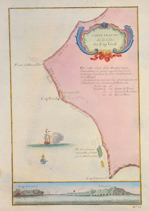 1343 Carte exacte de la Cote du Cap Verde