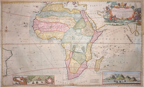 Moll Hermann To the Right Honorable Charles Earl of Perterborow, and Monmouth & this map of Africa