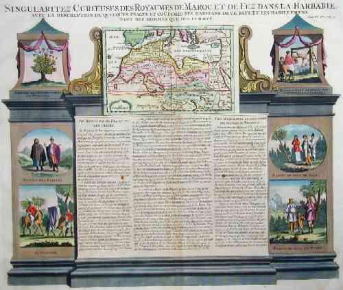 Chatelain Henri Abraham Singularitez curiez des royaume de Maroc et de Fez dans la Barbarie….