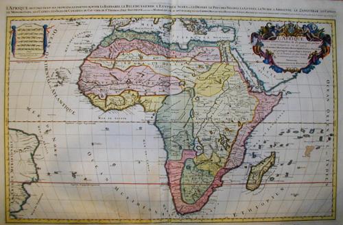 Jaillot/ Sanson Hubert/ Nicolas L´Afrique divisee suivant l´estendue de ses Principales Parties ou sont distingues les uns des autres. Les Empires Monarchies, Royaumes, Estates….
