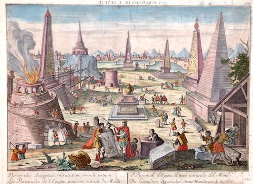 Probst Georg Balthasar Pyramides Aegyptiae, miraculum mundi tertium. Les Pyramides de l'Egypte, troifiéme miracle du Monde.