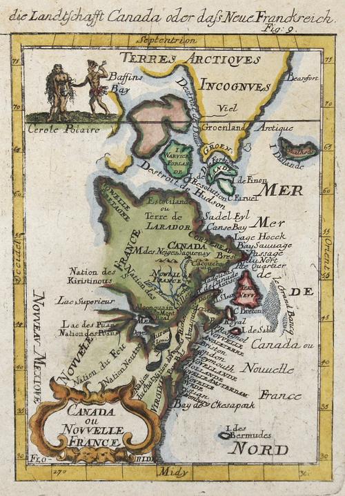 Mallet Alain Manesson Canada ou Novelle France