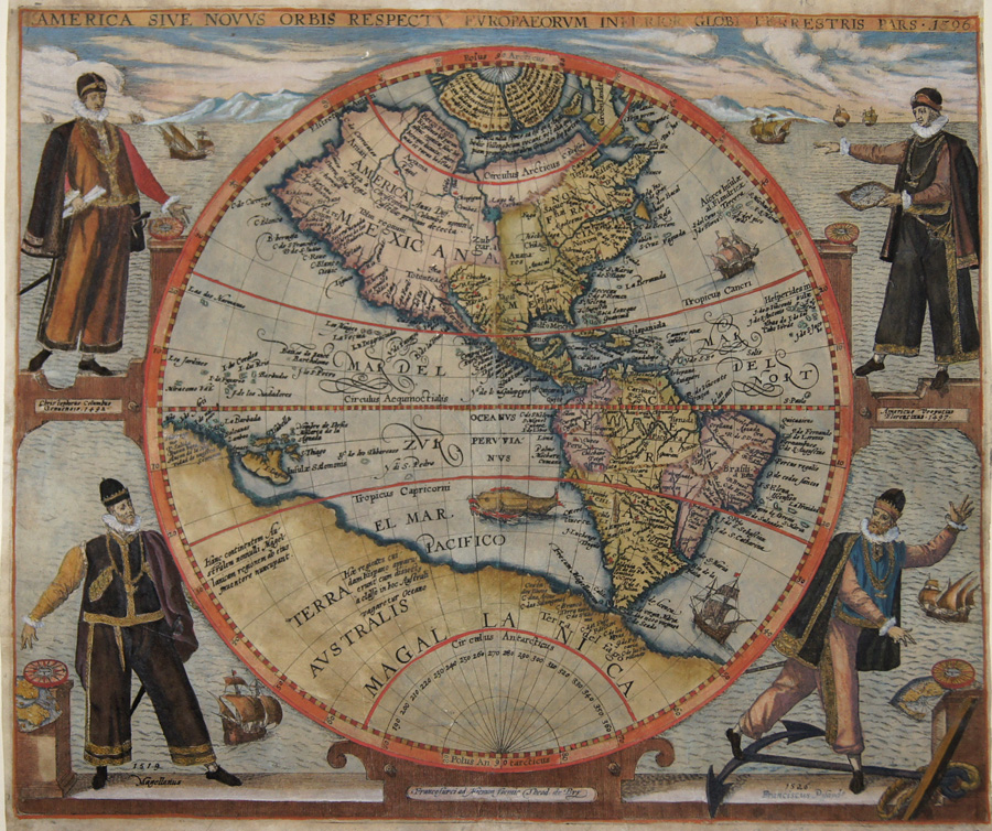 Bry, de Theodor, Dietrich America sive Novus orbis repectu Europaeorum inferior Globi Terrestis Pars 1596