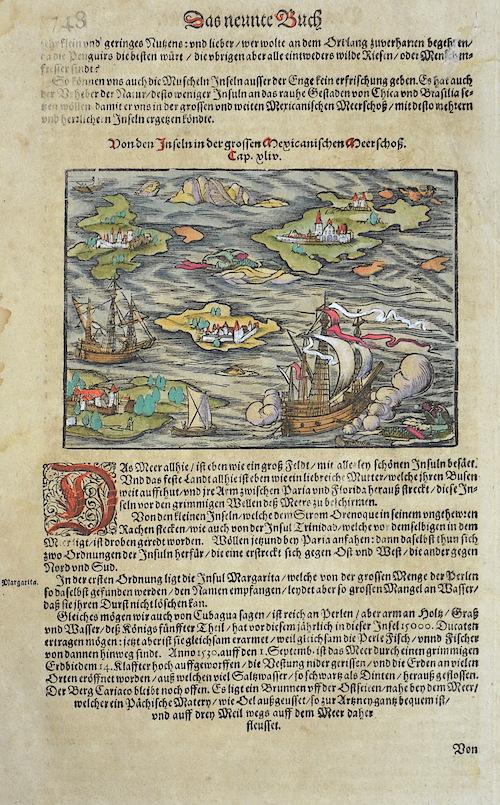 Münster Sebastian Von den Inseln in der grossen mexicanischen Meerschoß