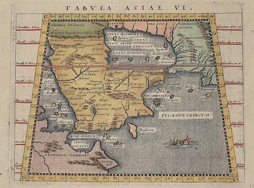 Ptolemy/Giovanni Magini Claudius Tabula Asiae VI