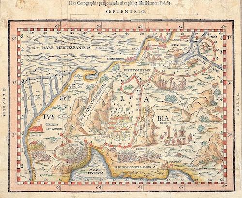 Guarinus Thomas Haec Corographia praeponenda est capiti 33. Libri Numer, Fol. 183