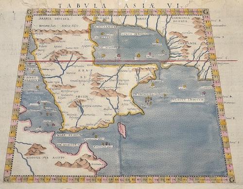 Ruscelli Girolamo Tabula Asiae VI.