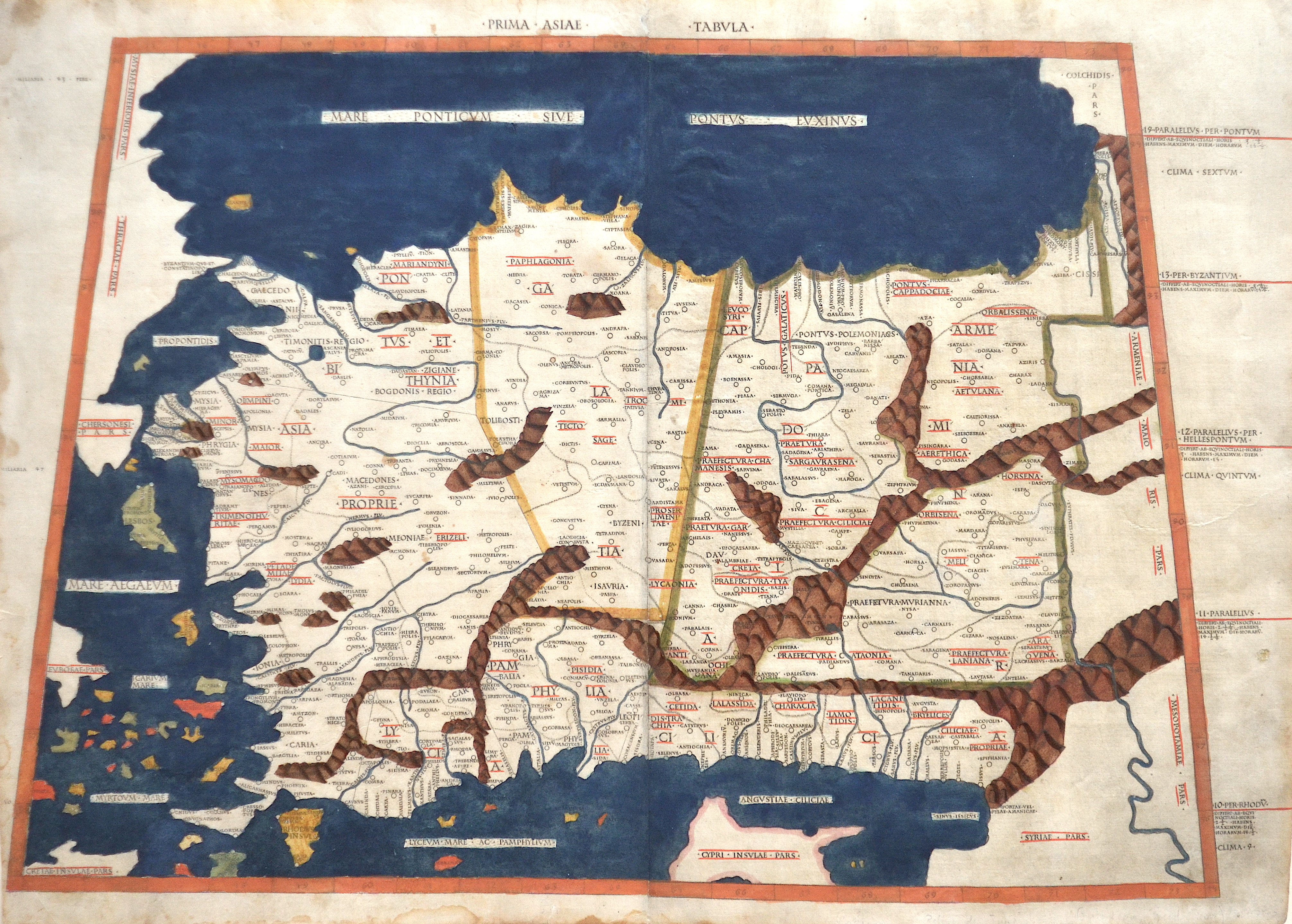 Ptolemy/Conrad Sweynheym  Prima Asiae Tabula