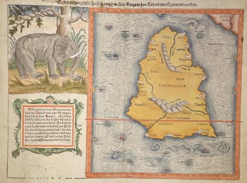 Münster Sebastian Sumatra ein grosse Insel / so von den alten Geographen Taprobana / ist genent worden.