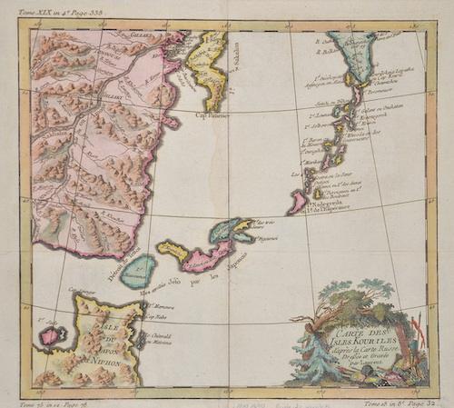 Lauent  Carte des Isles Kouriles d´apres la Carte Russe. Dreßee et Gravee par Laurent.