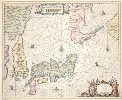 Janssonius Johann Nova et accurata Iaponiae Terrae Esonis ac Insularum adjacentium…