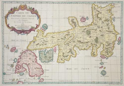 Bellin Jacques Nicolas Karte von dem Reiche Japon
