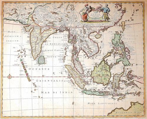 Wit, de Frederick Tabula Indiae Orientalis. Emendata a F. de Wit