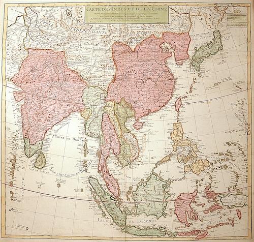 Dezauche/de l´Isle, J.A. / G. Carte des Indes et de la Chine