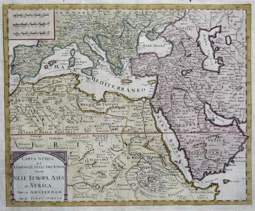 Tirion Isaak Carta nouva del Dominio, e stati del Turco, Situati nell Europa, Asia ed Africa….