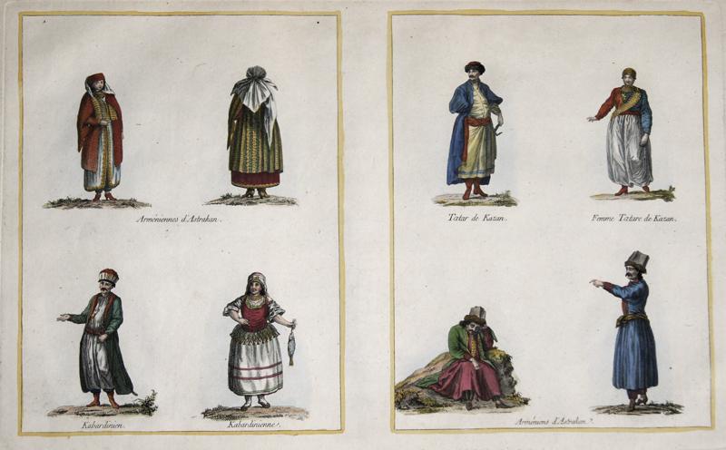 Anonymus  Armeniennes d'Astrakan. Kabardinien. Kabardinienne. Tatar de Kazan. Femme Tatare de Kazan. Armeniens d'Astrakan.