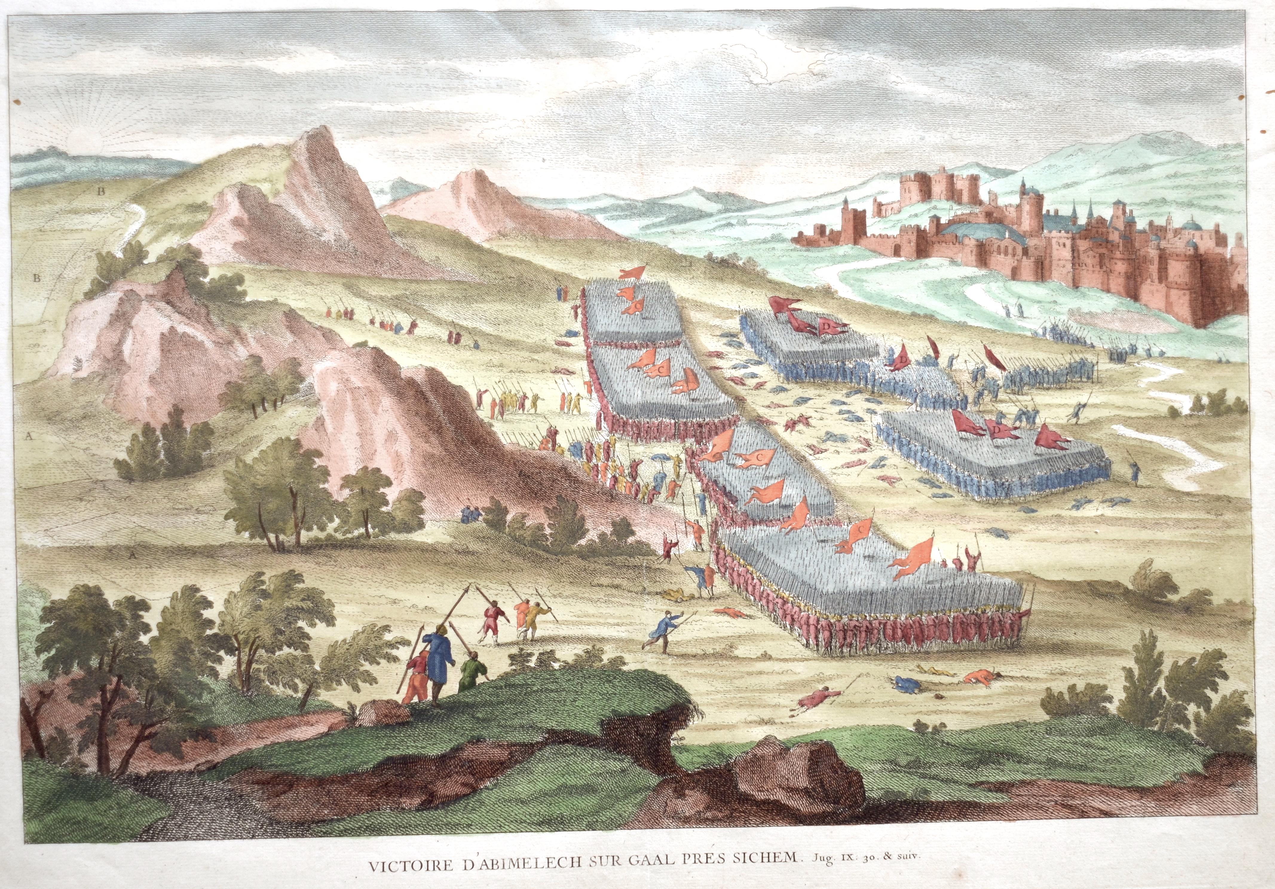 Anonymus  Victoire d'Abimelech sur gaal prés Sichem.