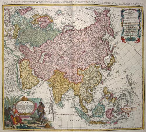Homann Erben  Asia secundum legitimas Projectionis Steriographicae regulas……