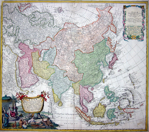 Homann Erben  Asia secundum legitimas Projectionis Steriographicae regulas et juxta  recentissimas observationes et relationes…