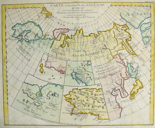 Vaugondy,de Robert Car te des parties Nord et Est de L´Asie….
