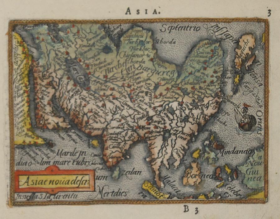 Ortelius Abraham Asia / Asiae nova descr