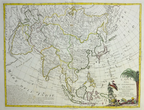 Zatta Antonio L'Asia divisa ne' suoi principali Stati…
