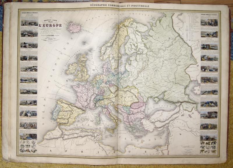 Vuillemin Alexandre Atlas de Géographie Commercial et Industriel