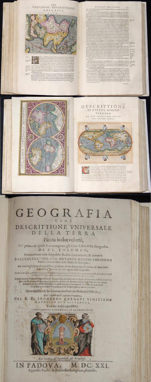 Ptolemy/Giovanni Magini Claudius Geografia cioè descrittione universale della Terra Partita in due volumi,…