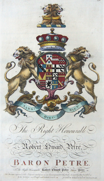 Edmondson J. The right honourable Robert Edward Petre Baron Petre……..