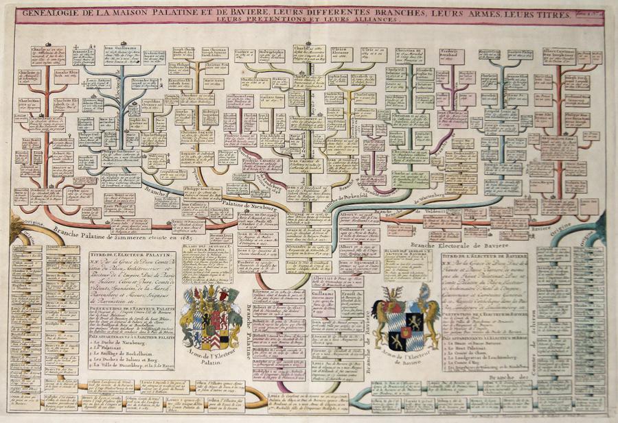 Chatelain Henri Abraham Genealogie de a Maison Palatine et de Baviere, Leurs differentes Branches, leurs Titres, Leurs Pretentions et Leurs Alliances.