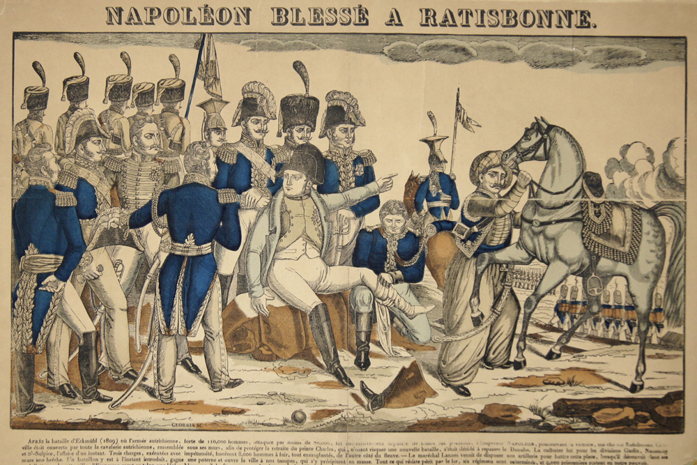 Georgin  Napoleon blesse a Ratisbonne.