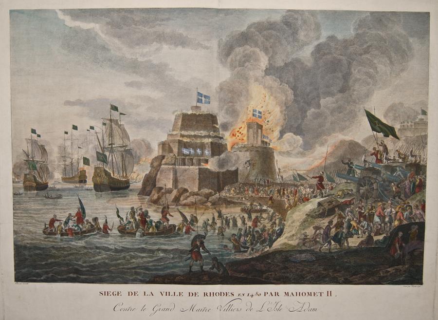 L´Epine  Siege de la Ville de Rhodes en 1480 par Hahomet II.