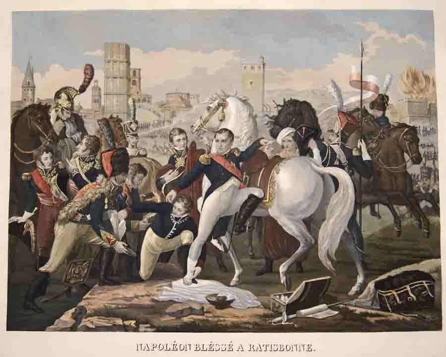 Anonymus  Napoleon Blesse a Ratisbonne. Le 23 Avril 1809.