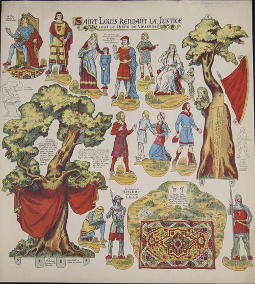 Anonymus  Saint Louis Rendant la Justice sous le Chéne de Vincennes