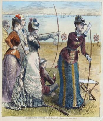 Reinhart C.S. Archery practice on Staten Island