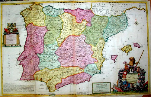 Moll  A new and exact map of Spain & Portugal