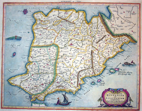 Hondius  Tab. II Europae. Hispaniam ac Lusitaniam Complectens