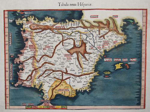 Ptolemy/ Servetius  Tabula noua Hispaniae
