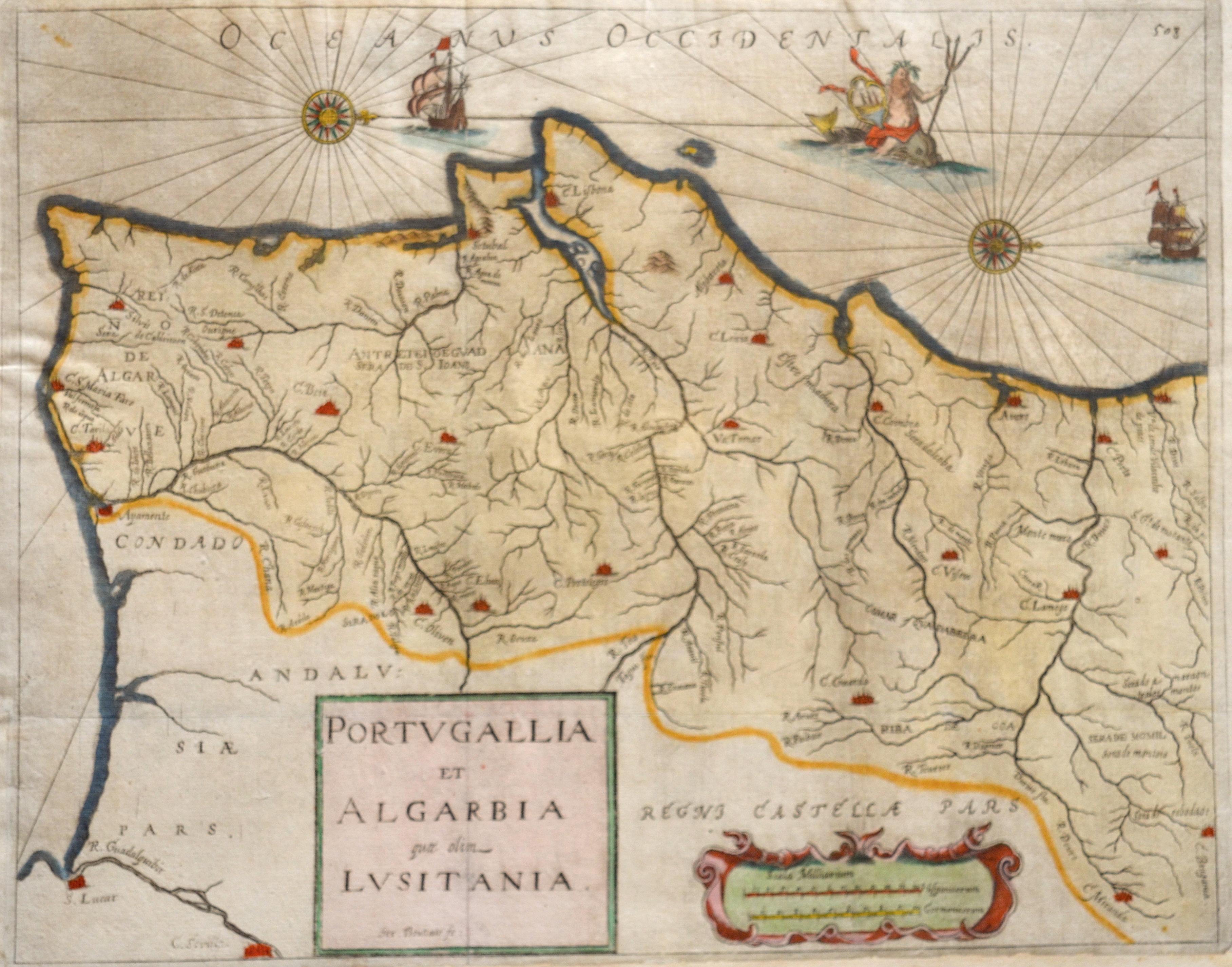 Bouttats Gaspar Portugallia et Algarbia quae olim Lusitania.