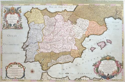 Sanson/ Jaillot, Charles Hubert  L´Espage diousee en tous ses Royaumes et principautes…
