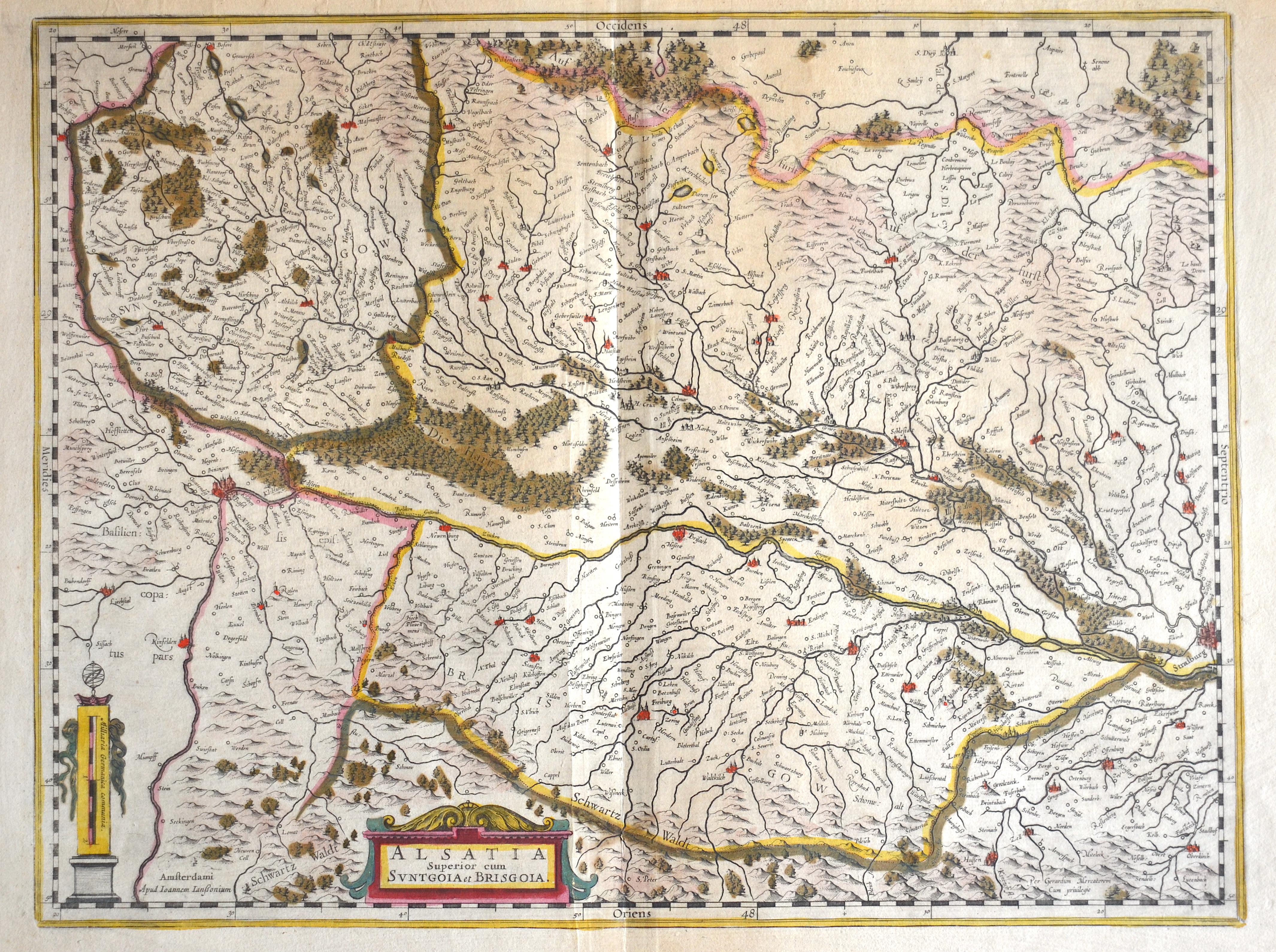 Janssonius  Alsatia Superior cum Suntgoia et Brisgoia.