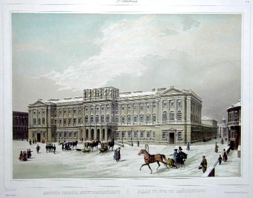 Lemercier / Levasseur  Palais du duc de Leüctemberg