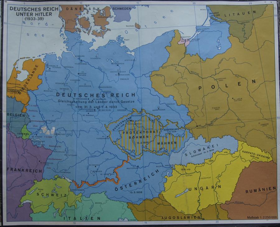 Deutsches Reich Karte.Anonymus Deutsches Reich Unter Hitler 1933 39 Antike Karten