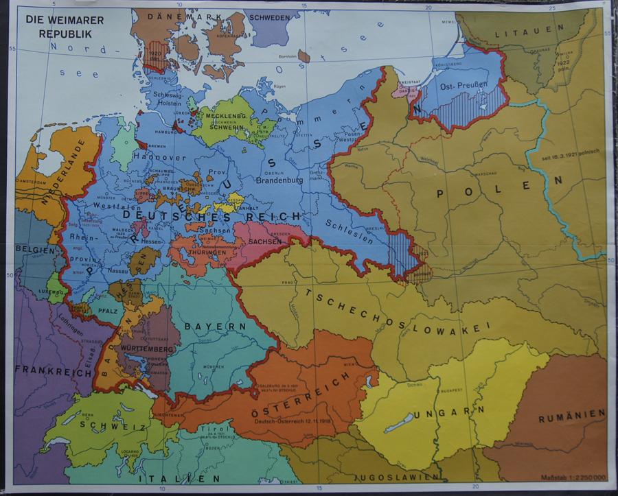 weimarer republik karte Anonymus   Die Weimarer Republik   Antike Karten   Antiquariat