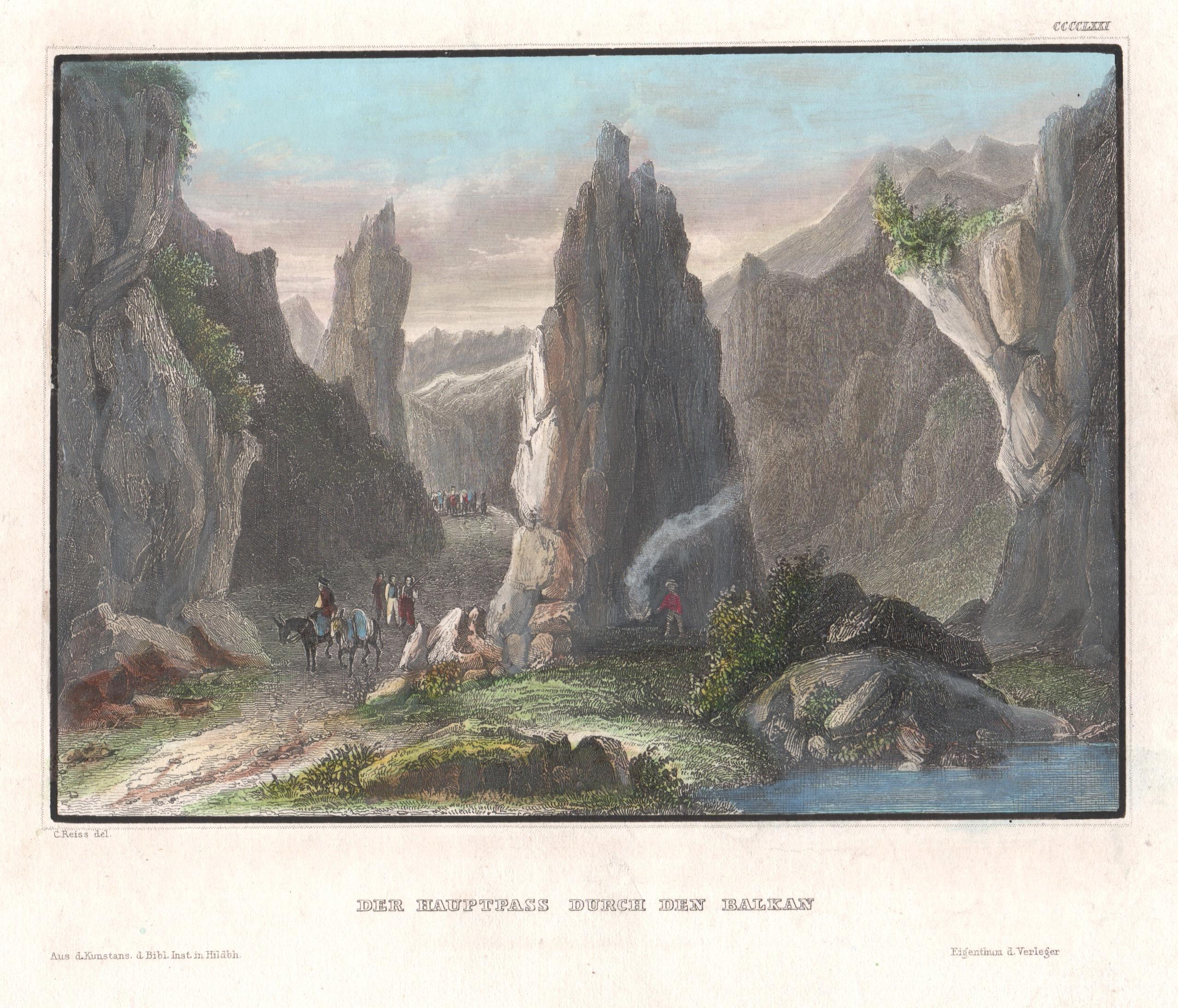 Kunstanstalt Hildburghausen  Der Hauptpass durch den Balkan