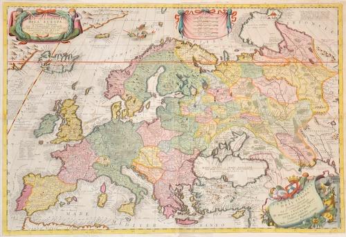 Coronelli Vicenzo Maria Parte occidentale dell´ Europa, Descritta, Dedicata…..