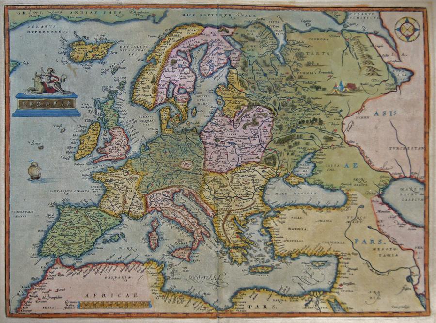 Ortelius Abraham Europae