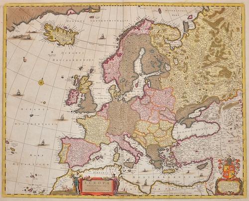 Visscher  Europa delineata et recens edita per Nicolaum Visscher
