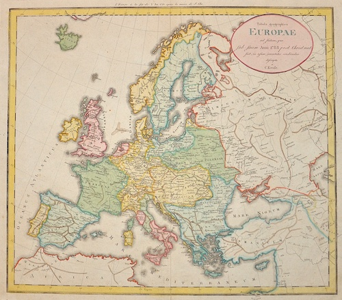 Kruste  Tabula geographica Europae ad statum, quo sub finem Anni 1788 post Christ nat……