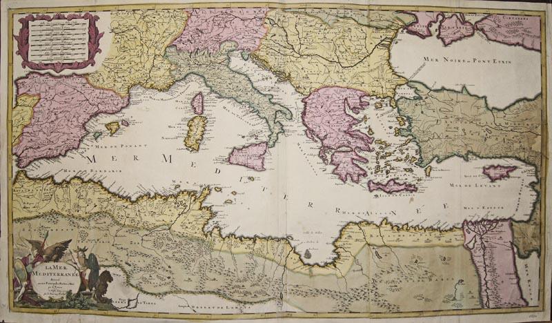 Valk  La Mer Mediterranee divisee en ses Prinzipales Parties ou Mers par G. Valck